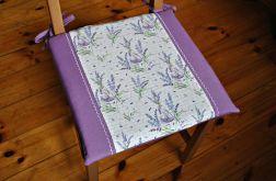 Poduszka na krzesło - lawenda i napisy