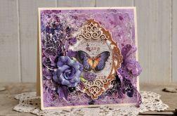 Z motylem (kartka w pudełku)