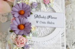 Ślubna kartka w pudełku DL 10