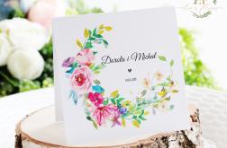 Eleganckie Zaproszenia ślubne wiosenny wianek