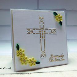 Kartka na Chrzest Święty 2 quilling