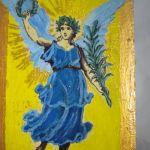 Anioł z gałązką palmową -posłaniec - widok