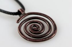 Spiralny – miedziany wisiorek 2109-15