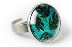 Leaves pierścionek z ilustracją