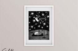 Gwiazdy - oryginalny rysunek 0105