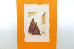 Kartka świąteczna pomarańczowa 1