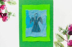 Kartka  świąteczna zielona minimalizm nr 69