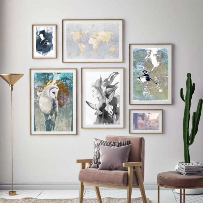 Ptak, plakat sygnowany, B2 70x50 cm - Stwórz własną kolekcję unikalnych plakatów