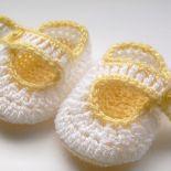 Urocze buciki biało - żółte