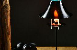 Lampka stołowa winylowa płyta winyl retro met