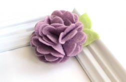 FairyBows SPINECZKA * kwiatek 3D fiolet lila