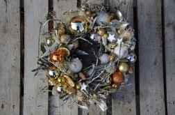 wianek świąteczny srebrny