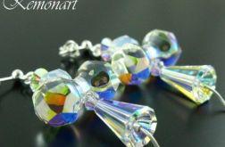 Kolczyki kryształowe Aniołki na święta