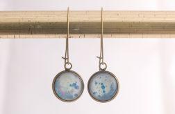 Długie kolczyki z malowanym szkłem, błękitne
