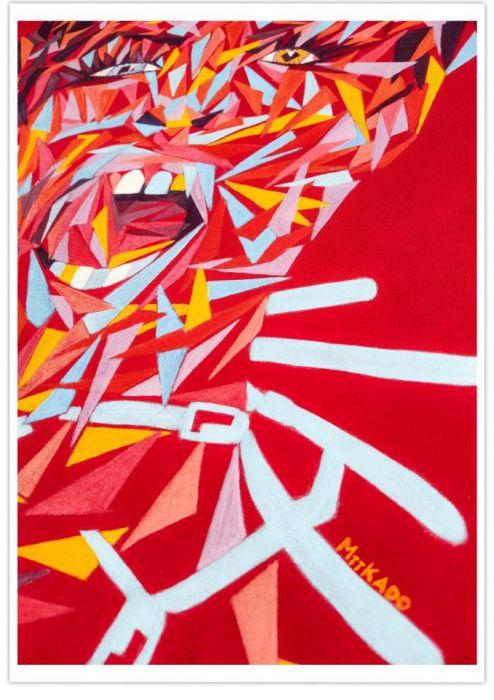 Ręcznie malowana bluza abstrakcja drag queen