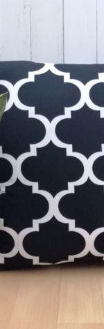 Poszewka bawełniana, czarne maroko,50x50cm.