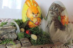 Kociak z przyjaiółmi - stroik z chrobotkiem