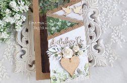 Ślubna kartka kaskadowa w pudełku 395