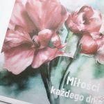 Kartka ŚLUBNA z grafiką - czerwone kwiaty - Czerwono-zielona kartka na ślub z grafiką