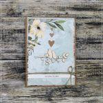 Zakochane ptaszki - ślubna kartka z ptaszkami