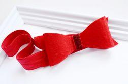 Opaska Duża czerwona kokarda 2