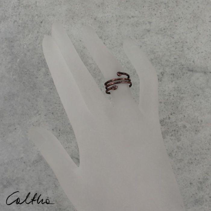 Wężyk - miedziany pierścionek 190511-03
