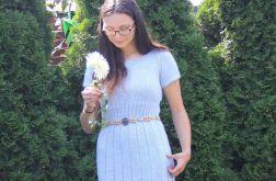 Lodowy błękit -elegancka sukienka
