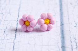 Różowe kwiatki - sztyfty