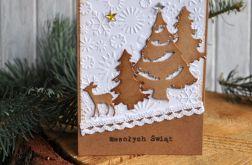 Kartka świąteczna z zimowym widoczkiem
