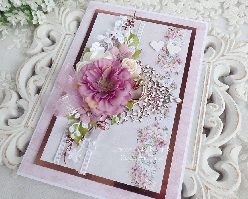 Ślubna kartka w pudełku 464 -