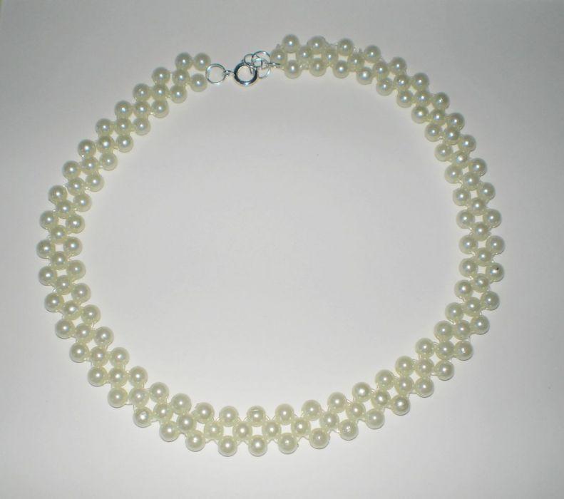 kolia biała perłowa - naszyjnik z perełek