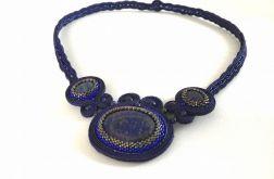 Naszyjnik sutasz z lapis lazuli