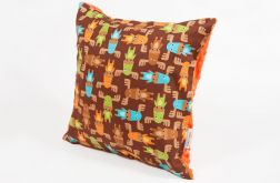 Poduszka minky - pomarańczowe łosie - 40x40 cm