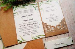 Rustykalne zaproszenia na ślub w folderze 01
