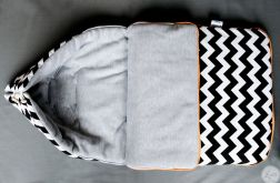 Ciepły Śpiworek w zyg-zaki