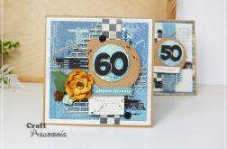 Męska kartka urodzinowa + pudełko
