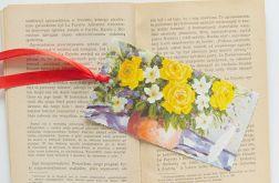 Zakładka do książki z żółtymi różami