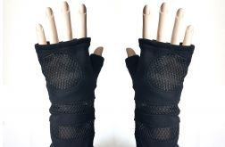 Rękawiczki mitenki ze wstawkami