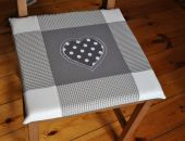 Poduszki na krzesła, siedziska - grafitowe - 6 szt