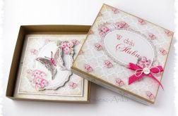 Kartka na ślub w pudełku