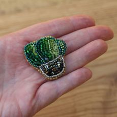 Broszka-kaktus