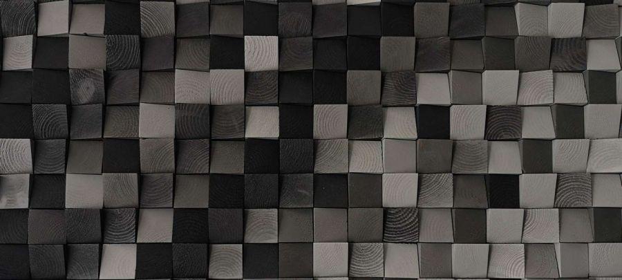 Drewniany panel ścienny mozaika 3D ELEGANCE