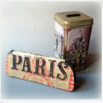 Etui na okulary - Paris - Decoupage