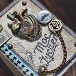 Moc życzeń - serce w stylu steampunk - Serce steampunk- detal III