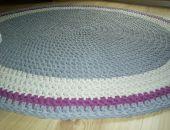 Bawełniany okrągły dywan