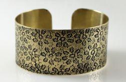 Mosiężna bransoleta - kwiatuszki 170512-02