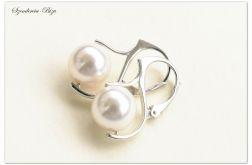 Kolczyki Swarovski Pearl Crystal White