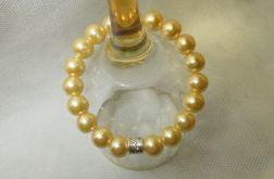 63. Bransoleta z pereł szklanych 10mm