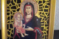 Obrazek religijny - ikona Maryja z dziec.
