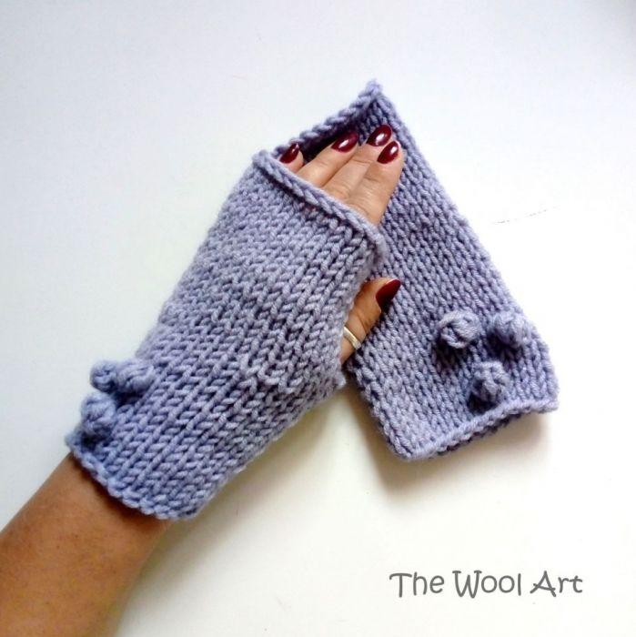 rękawiczki mitenki fiolet